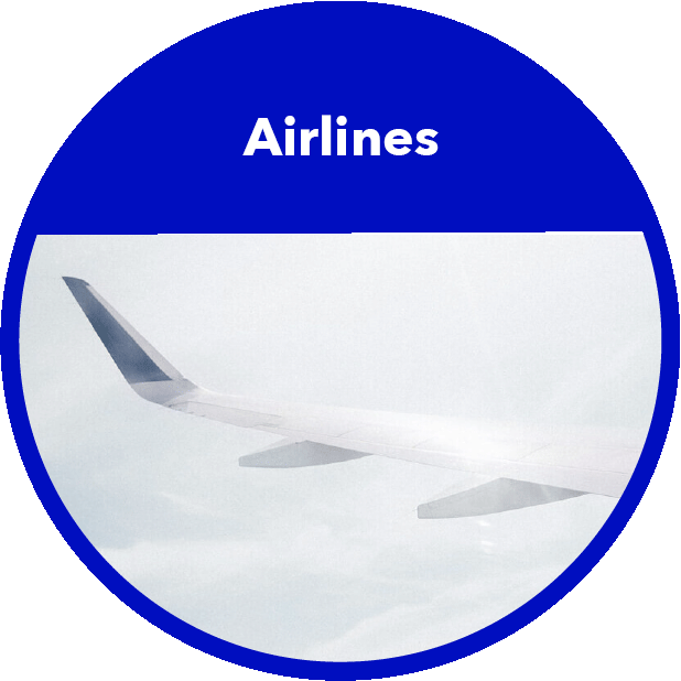 Airlines Branchenbild Rund