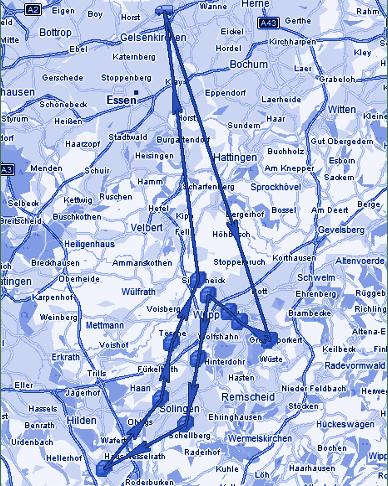 Bild der geplanten Strecke