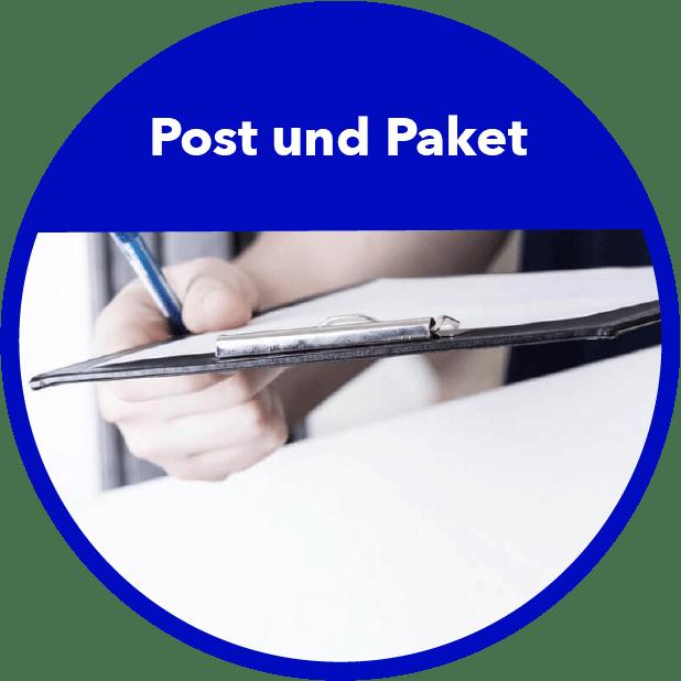 Post und Paket Branchenbild Rund