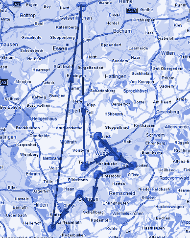 Bild der ungeplanten Strecke